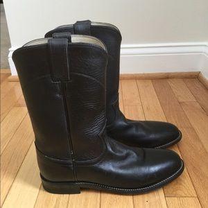 Justin roper black boots